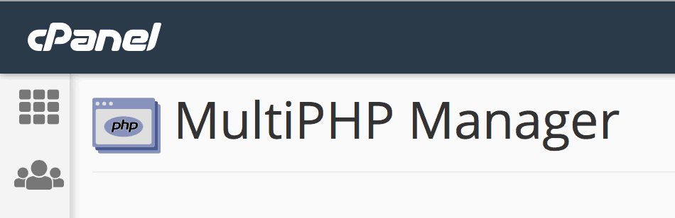Multiphp Manager cPanel